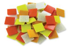 Mosaïques en pâte de verre- Camaïeu Orange - Mosaïques pâte de verre – 10doigts.fr