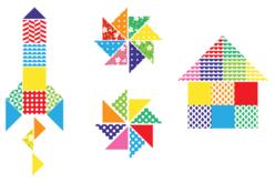 Mosaiques XXL en carte forte brillante -1000 pièces - Mosaïques en papier, carton et mousse – 10doigts.fr - 2