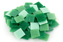 Mosaïques en pâte de verre- Camaïeu Vert - Mosaïques pâte de verre – 10doigts.fr