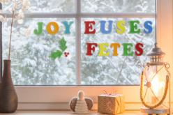 """Lettres gel """"Joyeux Noël"""" pour fenêtres - Décorations pour vitres – 10doigts.fr - 2"""