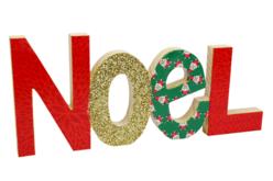 """Mot """"NOËL"""" en bois à poser - Décorations de Noël en bois – 10doigts.fr - 2"""