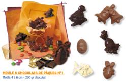 Moule chocolats de Pâques - 6 motifs - Moules gourmandises – 10doigts.fr