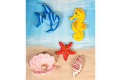 Moule 6 motifs de la mer - Moules pour plâtre, savon, béton ... – 10doigts.fr - 2