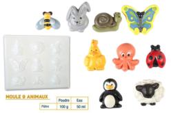 Moule 9 animaux - Moules pour plâtre, savon, béton ... – 10doigts.fr - 2