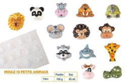 Moule 13 petits animaux - Moules pour plâtre, savon, béton ... – 10doigts.fr - 2