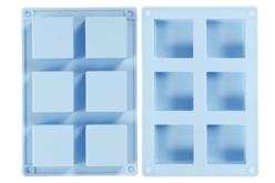 Moule en silicone carré pour savons - Moules en silicone – 10doigts.fr