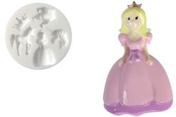 "Moule silicone ""Princesse"" - 5 formes - Moules en silicone – 10doigts.fr - 2"