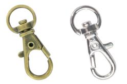 Mousquetons argentés ou dorés - Lot de 4 - Porte-clefs, Anneaux, Mousquetons – 10doigts.fr