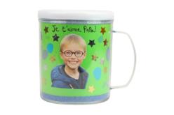 Mug à décorer - Plastique Transparent – 10doigts.fr - 2