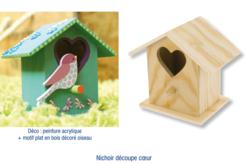 Nichoir à oiseaux en bois à poser - 7 cm - Nichoirs – 10doigts.fr
