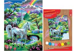 Tableau peinture au Numéro - Licorne - Peinture par numéros – 10doigts.fr