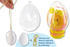 Oeuf en plastique transparent à suspendre - Plastique Transparent – 10doigts.fr - 2