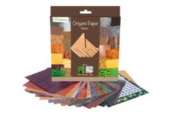 Papier Origami Nature - 60 feuilles - Papiers Origami – 10doigts.fr