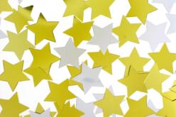 Paillettes étoiles or et argent - Lot de 8000 paillettes - Paillettes fantaisie – 10doigts.fr - 2