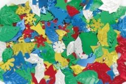 Paillettes de Noël or, argent, rouge, vert et bleu, formes assorties - Paillettes fantaisie – 10doigts.fr