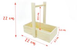 Panier droit en bois - Cuisine et vaisselle – 10doigts.fr - 2