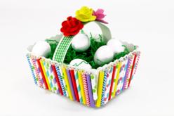 Paniers blanc à monter - Lot de 6 - Supports de Pâques à décorer – 10doigts.fr - 2