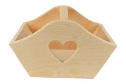 Panier découpe cœur en bois - Paniers en bois – 10doigts.fr - 2