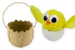 Panier oeuf de Pâques en papier mâché