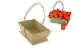 Panier en papier mâché avec cordon - Pots, vases en carton – 10doigts.fr