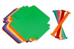 Paniers colorés en carte forte - Set de 6 - Supports de fêtes en carton – 10doigts.fr - 2