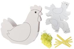 Corbeilles poules - Set de 6 - Kits activités Pâques – 10doigts.fr - 2