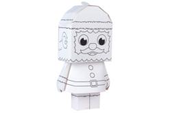 Paper toy Père Noël - Supports pré-dessinés – 10doigts.fr - 2