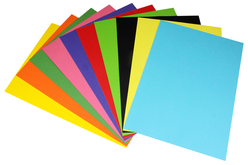 Papier affiche couleurs vives assorties