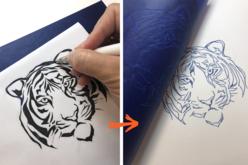 Papier carbone bleu format A4 - 10 feuilles - Papier carbone – 10doigts.fr - 2