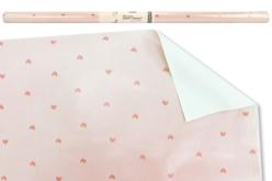 Papier cadeau rose - Motifs coeurs - Papiers cadeaux – 10doigts.fr
