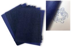 Papier carbone bleu format A4 - 10 feuilles - Papier carbone – 10doigts.fr