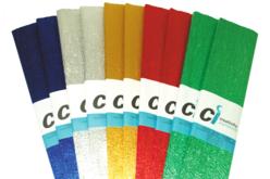 Papier crépon, couleurs festives métallisées - 10 feuilles - Papiers de crépon – 10doigts.fr