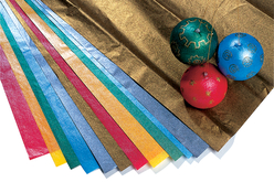 Papier de soie métallisé - 14 feuilles assorties - Papiers de soie – 10doigts.fr