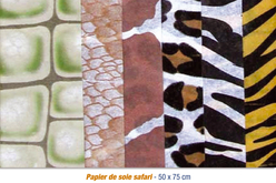 """Papier de soie 6 motifs """"Safari"""" - 24 feuilles - Papiers de soie – 10doigts.fr"""