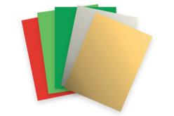 Papiers aux couleurs de Noël - Set de 50 feuilles - Papiers de Noël – 10doigts.fr