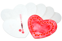 Cœurs en papier diffuseur - Lot de 50 - Nouveautés – 10doigts.fr
