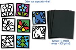 Cartes épaisses noires - 10 feuilles - Papiers épais – 10doigts.fr - 2