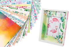 Papiers scrapbooking aquarelle