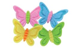 papillons en feutrine stickers
