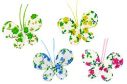 Papillons en tissu molletonné fleuri - Set de 8 - Motifs en tissu molletonné – 10doigts.fr