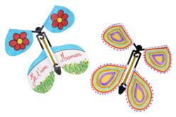 Papillons volants à décorer - 10 pièces - Objets décoratifs en carton – 10doigts.fr - 2