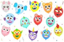 PARTY KIT ballons à customiser - 100 ballons et ses accessoires - Ballons, guirlandes, serpentins – 10doigts.fr - 2