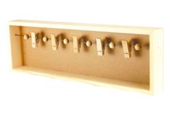 Cadre 3D pêle-mêle et 5 pinces - Cadres photos en bois – 10doigts.fr - 2