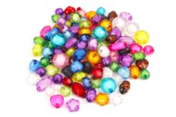 Perles à facettes - 100 perles - Perles acrylique – 10doigts.fr - 2