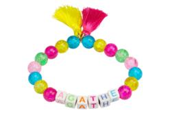 Perles cubiques alphabet multicolore - 280 perles - Perles Alphabet – 10doigts.fr - 2