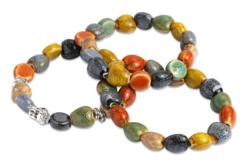 Perles mouchetées en céramique - 80 perles - Perles en céramique – 10doigts.fr - 2