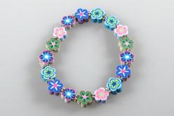Perles fleurs Millefiori - 100 perles - Perles en pâte polymère – 10doigts.fr - 2