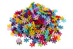 Perles flocons - 500 perles - Perles acrylique – 10doigts.fr - 2