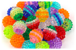 "Perles ""Graines de fruits"" - 50 perles - Perles acrylique – 10doigts.fr - 2"