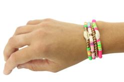 Perles rondelles Heishi - 900 perles - Perles Heishi et coquillages – 10doigts.fr - 2